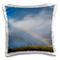 Danita Delimont - Rainbows - Rainbow and Wind Turbines, Maui, Hawaii, USA. - 16x16 inch Pi...