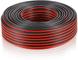 Electraline 10839 Cavo Hi-Fi 03VH-H per Altoparlanti, Sezione 2x0.75mm, 50 mt, Nero/Rosso