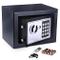 Meykey Cassaforte Elettronica, Cassaforte Piccola,2 Chiave per apertura d'emergenza,23 × 1...