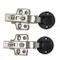 2 PZ Qrity 35mm Stile Europeo Overlay Mute Idraulico soft-close Cerniera per porta in vetr...