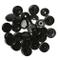 LIHAO 100pz Bottoni a Pressione T5 Bottoni Automatici in Plastica - Nero