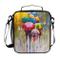 Cpyang, borsa termica per il pranzo, borsa a tracolla, borsa per il pranzo con motivo a ol...