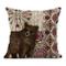 Tarolo Federa per cuscino in lino per il trasporto dell'auto, federa decorativa per cuscin...