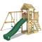 WICKEY Parco giochi in legno MultiFlyer Giochi da giardino verde con altalena e scivolo, T...