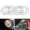 4distanziali universali da 5mm in alluminio per cerchi in lega da 4 e 5 perni