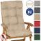 Beautissu Cuscino per Sedia a Sdraio Flair HL 120x50x8cm Extra Comfort per sedie reclinabi...