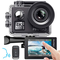 AKASO Action Cam Native 4K/60fps 20MP WiFi,Touch Screen,Comandi Vocali,EIS 40m Impermeabil...