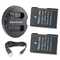 Newmowa EN-EL14 Batteria (confezione da 2) e Doppio Caricatore Rapido per Nikon EN-EL14, E...
