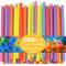 JINLE 200 Pezzi Cannucce di Plastica Extra Larghe, Cannucce USA e Getta per Frullato Ideal...