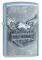 Zippo, Accendino in metallo con emblema a forma di aquila, Cromato (Street Chrome)