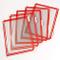 Confezione 10 buste A4 per leggio T-Technic, colore rosso