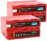 2x BAXXTAR PRO ENERGY batteria per Sony NP-F970 - LG Cells inside - (sincera 7800mAh)