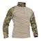 TACVASEN Camicia Militare Uomo Manica Lunga Cotone Airsoft Outdoor Shirt Camo CP