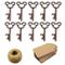 Apribottiglie con chiave a forma di scheletro vintage da 50 pezzi con 50 pezzi di tessera...