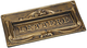 Blinky 27448-20 Buca per Lettere in Alu-Zinco e Bronzo, 300x140 mm