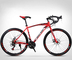 ZTYD 26 Pollici Bicicletta della Strada, 24 velocità Bici, Doppio Disco Freno, Acciaio al...