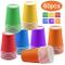 Bicchieri di carta usa e getta per feste, 255 ml, multicolore, biodegradabili, per fai da...