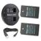 Newmowa EN-EL20 Batteria (confezione da 2) e Doppio Caricatore Rapido per Nikon EN-EL20 Ni...