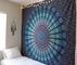 Raajsee arazzo mandala telo indiano cotone, hippy bohémien turchese blu arazzo da parete p...