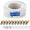 deleyCON 10m Cavo Coassiale SAT HQ 130dB con Schermatura Quattro DVB-S/S2 DVB-T DVB-C BK H...