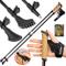 ATTRAC Bastoncini Nordic Walking Carbonio 105-130 cm - Ultraleggeri con Sistema »Click & G...