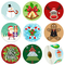 Elcoho - Adesivi natalizi assortiti, motivo: Babbo Natale, pupazzo di neve, renna, confezi...