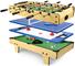 Leomark tavolo da gioco multifunzione 4 in 1 (calcio balilla, biliardo, tennis, hockey), b...