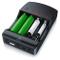 Aplic - Caricabatterie universale - Caricabatterie intelligente - 4 alloggiamenti di ricar...