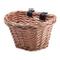 Ourlitime, cestino da bicicletta vintage in vimini, a forma di D, con cinghie per manubrio...