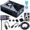 Bruphny Case per Raspberry Pi 4 con Ventola, 5V 3A USB-C Alimentatore, 4 Dissipatore, 1.8M...