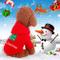 Idepet Costume da cane gatto di Santa Pet Merry Christmas Tree Pattern Clothes Felpa con c...