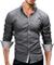 Merish Camicia Uomo Slim Fit 3 Colori Taglia S - XXL Modell 03 Grigio XXL
