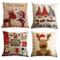 Gspirit Buon Natale Bellissimo Babbo Alce 4 Pack Cuscini per divani Decorativo Cotone Bian...