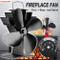 evergreemi Ventilatore per Stufa a 4 Pale, termoventilatore per Camino con termometro per...