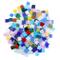 Tessere Mosaico Vetro Colorato (800Pz) (1cm x 1cm) - Tessere per Mosaico Piastrelle Multic...