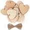 Kurtzy Set 25 Cuori Legno con Spago da 10m - 10x10cm Decorazioni Legno Forma Cuoricini di...