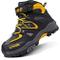 Scarpe da Escursionismo Stivali da Neve Scarpe da Trekking Unisex – Bambini(A Giallo,32 EU...