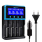 Caricabatterie 18650,Keenstone Caricabatterie Universale con ampio schermo LCD per monitor...
