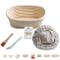 Cestino ovale in vimini per la lievitazione di pane e impasti di 400 g, dimensioni: 20 cm...
