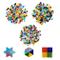 Tessere per mosaico (600 pezzi) - 3 Pezzi assortiti in diamante 2 x1,2 cm, triangolo 1,5 c...