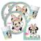 Unbekannt Minnie Mouse Set di 52 pezzi - Minnie Tropical Flamingo - Tovagliolo piatto per...