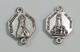 10 Grani Madonna di Fatima doppio anello per rosario cm 1.8