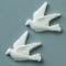 efco-Decorazione Natalizia a Forma di Colomba, Colore: Bianco, 30 mm, 2 Pezzi