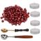 AIEX 200 Pezzi Sigillo Ceralacca Perline Kit Ceralacca Sealing Wax con 4pezzi tè candele...