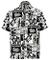 LA LEELA Hawaiian Bottone della Camicia Maglietta Maniche Giù Corta Casuale Vacanza Vacanz...