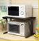 Gloyy - Supporto per forno a microonde, in legno, per cucina, con porta spezie, ripiano pe...
