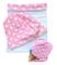 HECKBO® Cappello, Beanie per Bambine + Girocollo | Berretto Reversibile con Cigni e Cuori...