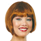 parrucca mezza capelli castani