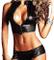 Inception Pro Infinite Completo Short a Culotte - Sexy - Top Latex - Misura Unica - Elasti...