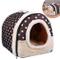 OZUAR 2 in 1 Cane Letto House Cat Igloo Pet House e Cuscini del Divano Pieghevole Inverno...